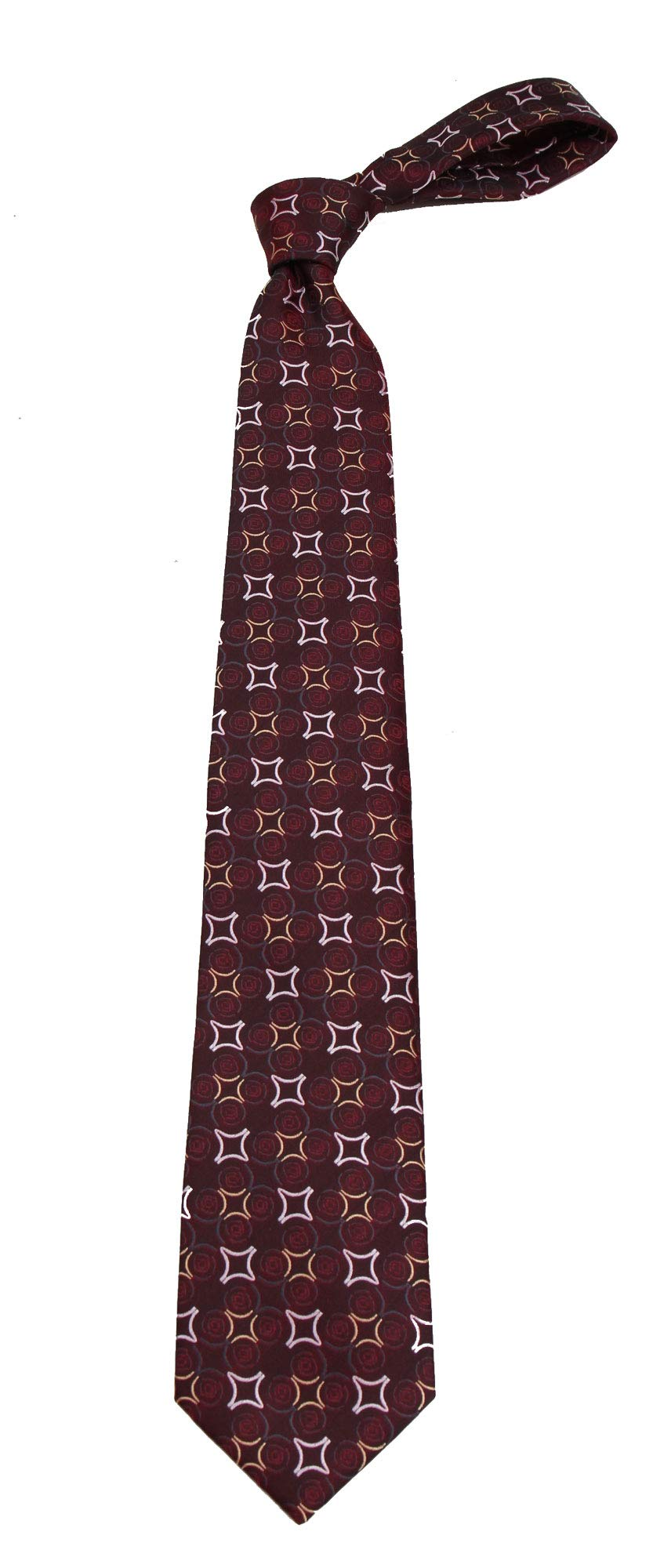 B-11705 - Boys Youth Burgundy Pattern Designer Necktie Ties