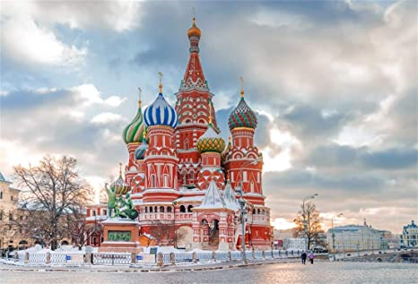 Yeele 9x7ft Photography Background St Basils Cathedral Vasily Braleni Church Moscow Landmark Red Square Building Orthodox Church Winter Russia