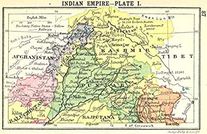 Amazon Com India Indian Empire Plate I Small Map 1912 Old Map