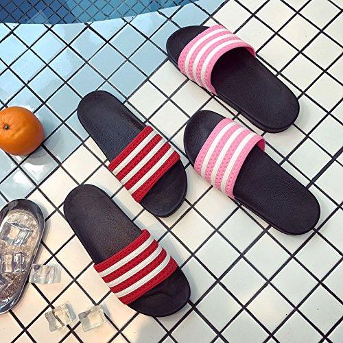 La Intrieure 38 Sandales Fminins Personnalises Pantoufles Et Bande Bain Modles De Fond Salle 37 pais Pantoufles Mmxxaiwwaa Stripe Maison Antidrapante Chaussures Antidrapantes Noir t Femme Txgw6Zqt
