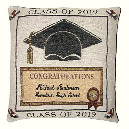 Pillow Graduation Personalized - A PLUS MARKETING Personalized Graduation Tapestry Pillow -2019
