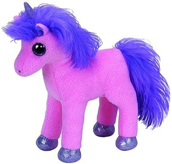 TY - Encanto - unicornio con los ojos brillantes, pezuñas púrpura y bocina, 15