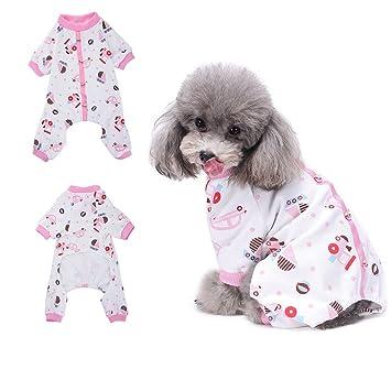 HongyH - Pijama para perro (100% algodón, para perros pequeños y gatos)