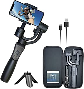 Wiser X01 3-Axis Gimbal Stabilizer for Smartphone, YouTube, Live Streaming ,Selfie, iPhone, Android and Gopro