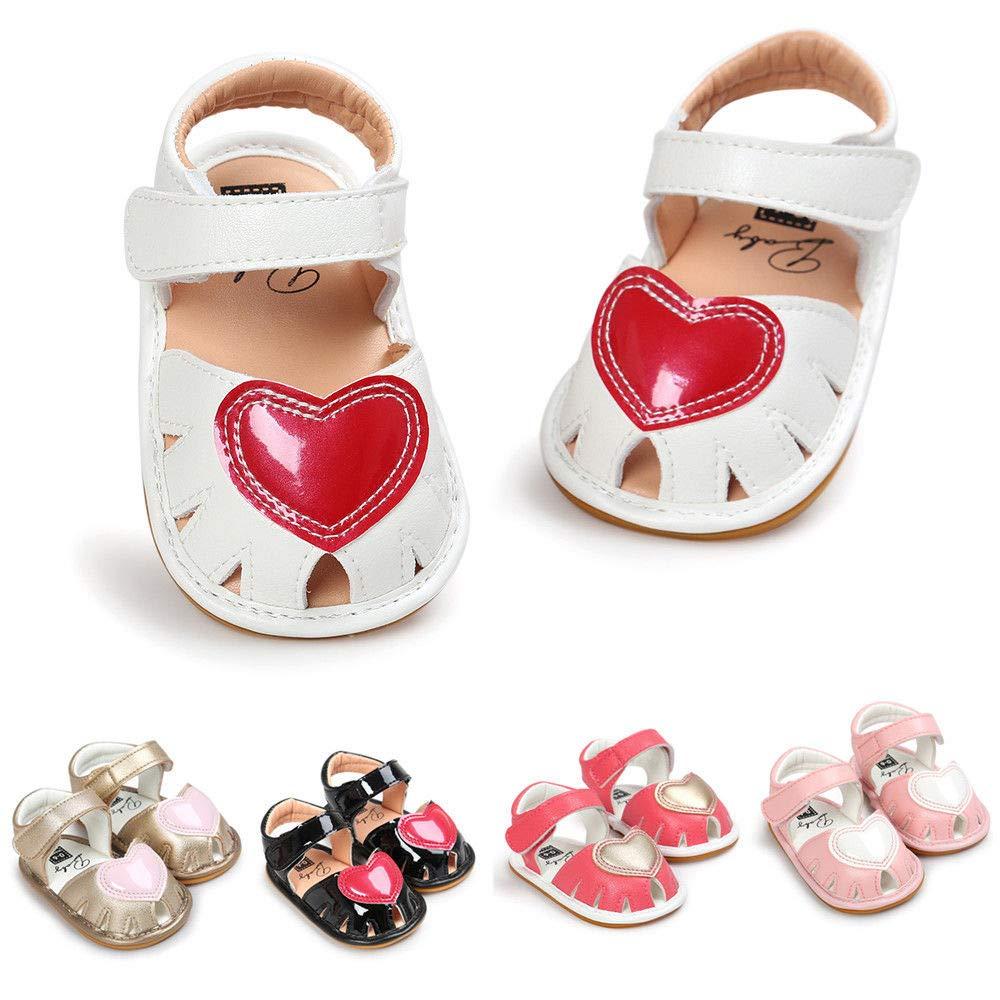 FidgetFidget Toddler Newborn Baby Girl Soft Sandals Anti-slip Pram Crib Shoes Prewalkers
