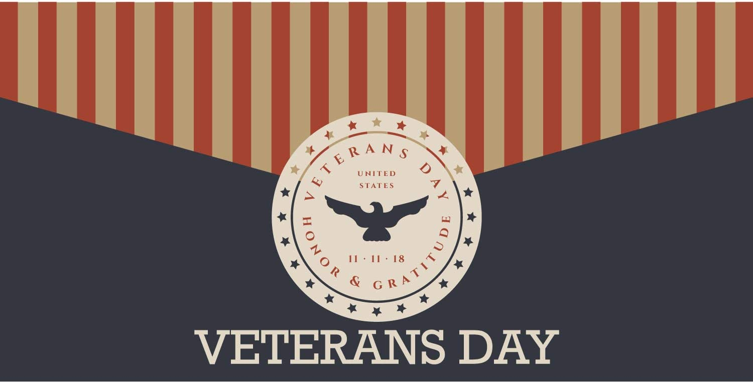 Amazon Com Banner Buzz Make It Visible Veterans Day 11 11 18 Us Flag Honor Gratitude Banner 11 Oz High Quality Vinyl Pvc Flex Banners With Hemmed Edges Metal Grommets Free 6 X