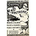 1937 Ad French Train Rail Travel Chemins de fer de l'Etat Brittany Costume VEN9 - Original Print Ad