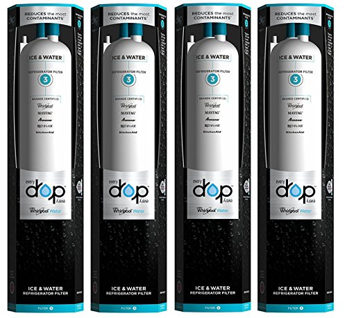 4Count-Whirlpool Every Drop 3 EDR3RXD1 4396841 4396710 Ice&Water Fridge Filter by new