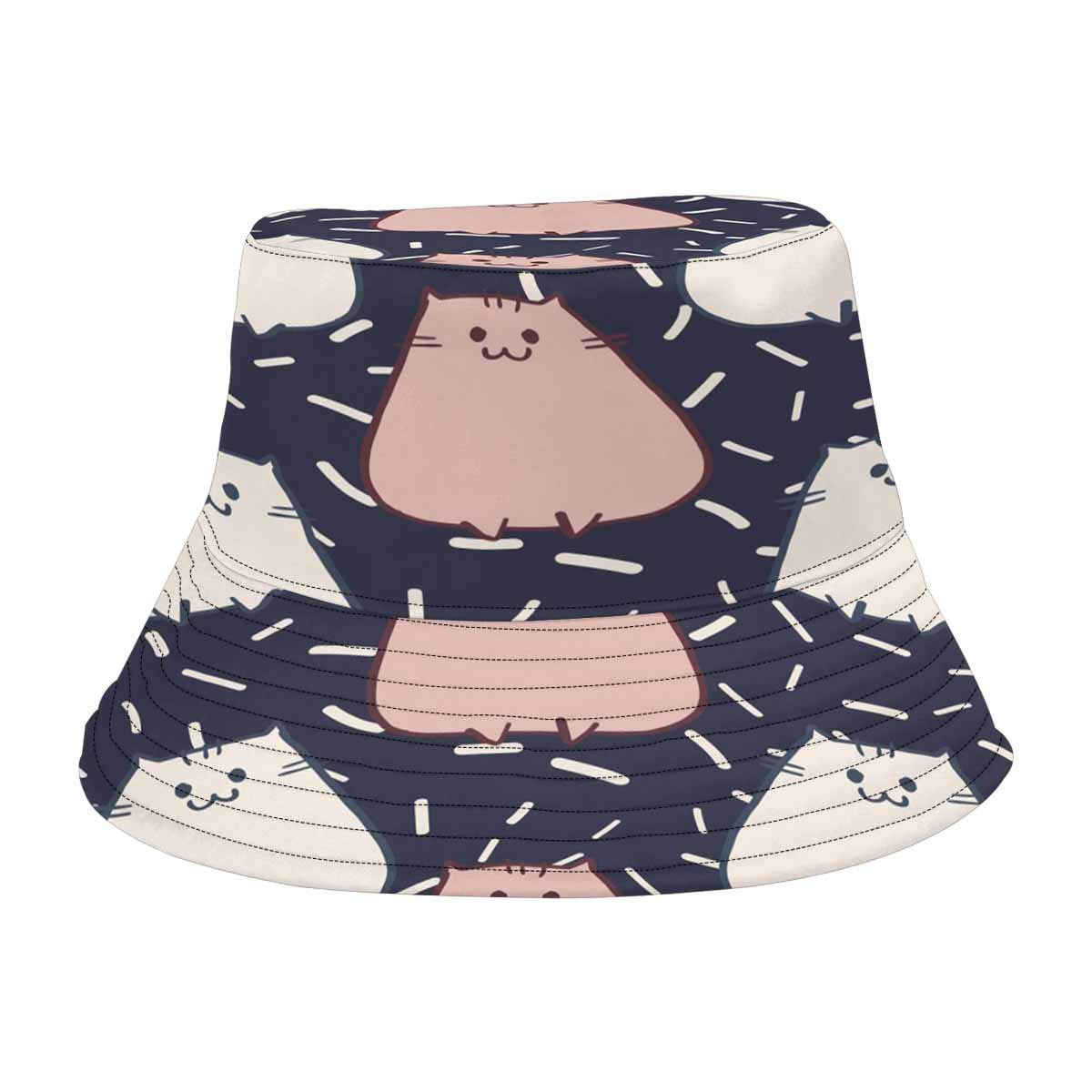 187142810ac INTERESTPRINT Cat Or Dog White Paw Prints Bucket Hat Boonie Sun Hats at  Amazon Women s Clothing store