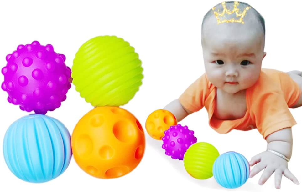 leisial 4pcs Niños Preescolar juguete el balón Caucho Natural ...