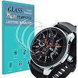 TAURI Protector de Pantalla para Samsung Galaxy Watch 46mm [3 Piezas] [2.5D Borde] [9H Dureza] Vidrio Templado