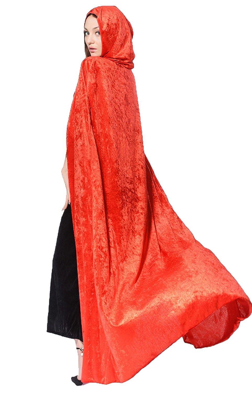 Halloween Costumes Women Hooded Cloak Wizard Cape Masquerade Cosplay Props Generic