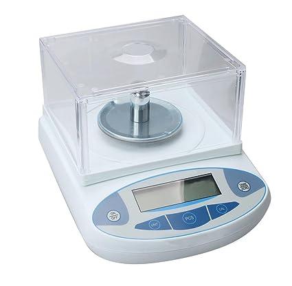 Funwill 500 x 0,001 g 1 MG báscula de Laboratorio balanza Digital de Alta precisión para