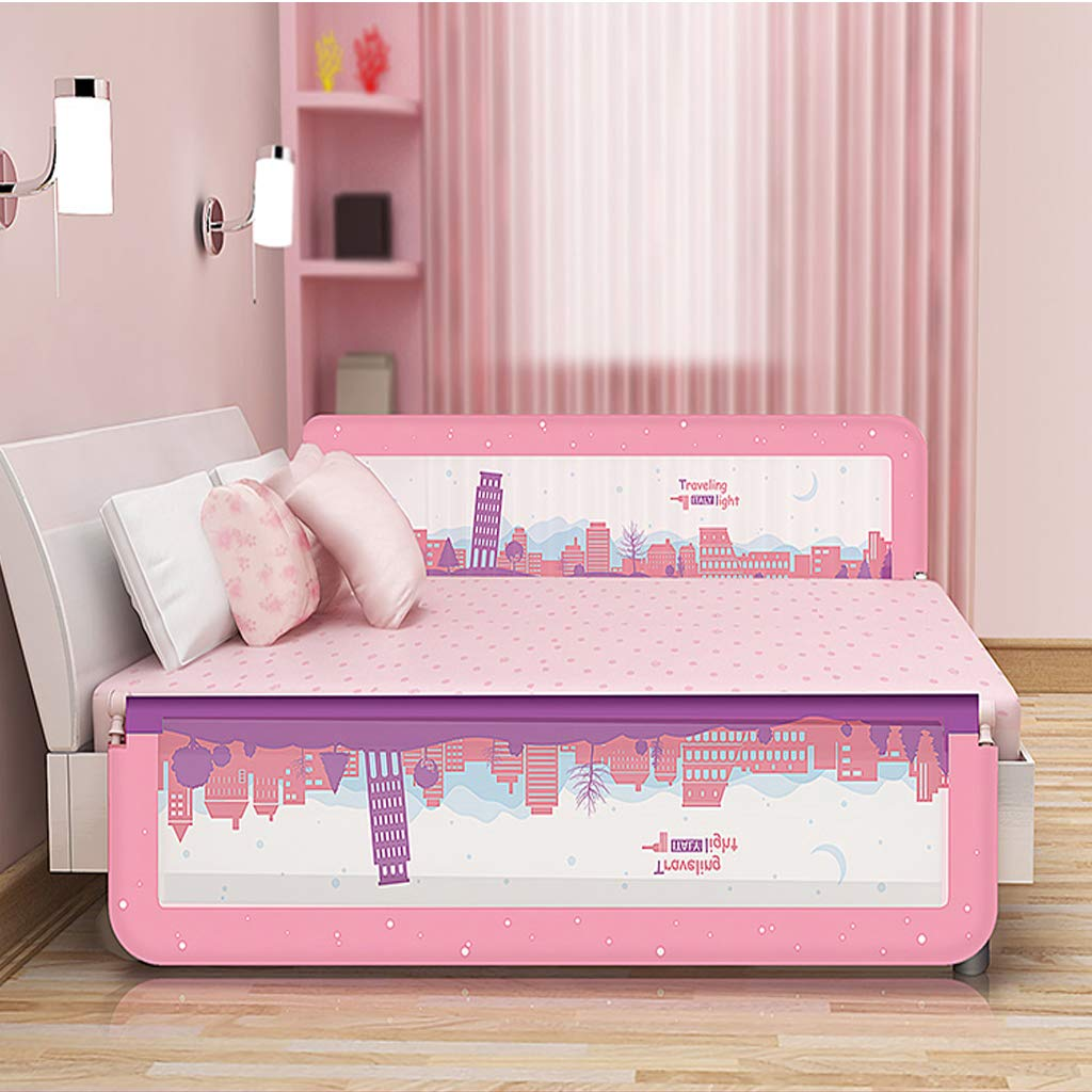 SONGTING Guardrail Kids' Bed Safety Rails Crib Bumpers Portable Baby Bed Rails Grating Fall Protection Bed Fence Foldable Bed Rail Bed Rail for Baby by SONGTING Guardrail (Image #5)