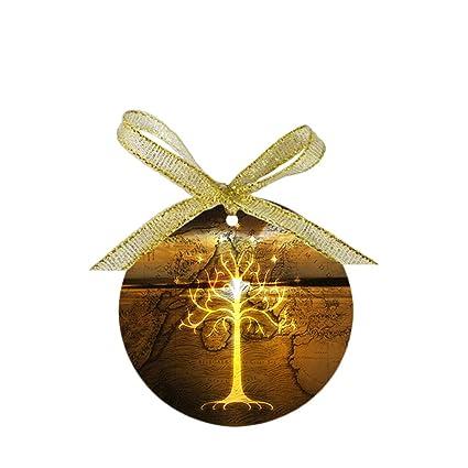 Lord Of The Rings Christmas Ornaments.Amazon Com Arhowk Custom Personality White Tree Of Gondor