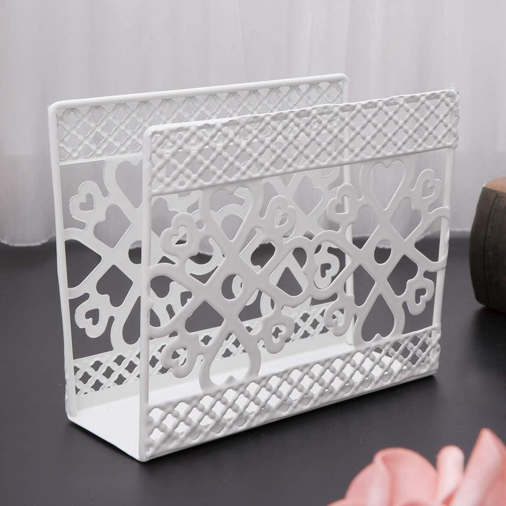 COLUDOR Metal Napkin Serviette Holder Dispenser Paper Tissue Rack Home Party Table Decor