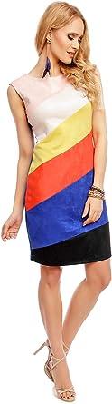 Sweet Miss C251151 damska sukienka z imitacji skÓry: Odzież