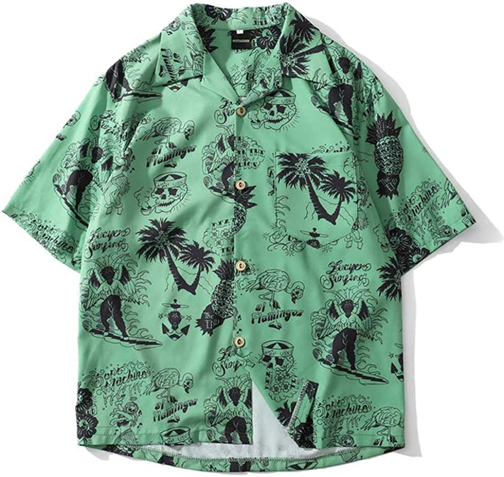 NOBRAND Casual Plaid Camisa de manga corta para hombres de la calle Hawaii playa mujeres dobladillo ajustable camisas de manga corta para hombre