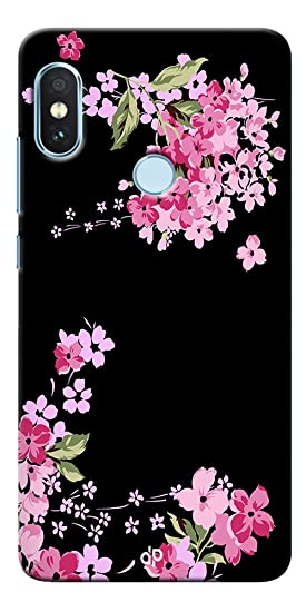 new arrivals 410c1 b49a3 Digiprints Hard PC Black Flower Art Printed Designer Back Case Cover for  Xiaomi Redmi Note 5 Pro