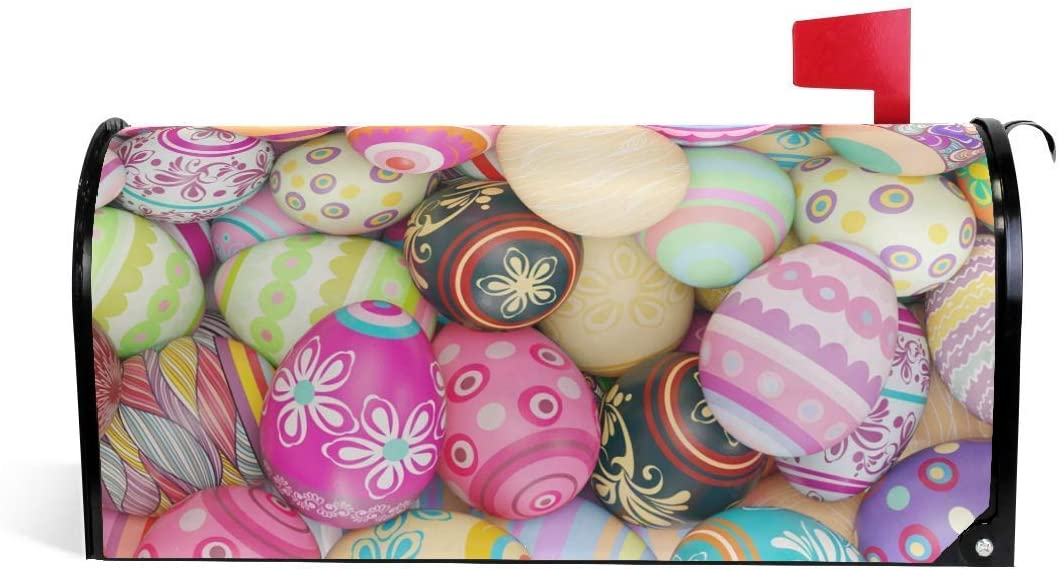 Xxxx Happy Easter Eggs Magnetic Mailbox Cover For Home Garden Yard Deco Makeover Mail Wrap Amazon Co Uk Garden Outdoors
