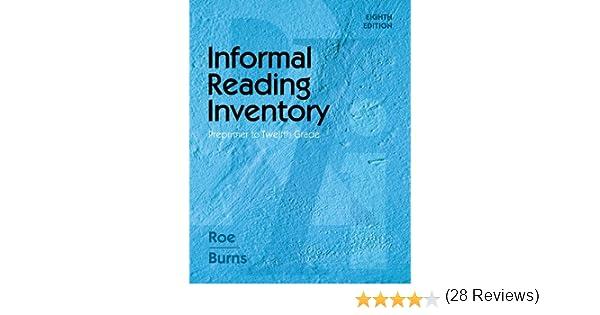 Amazon.com: Informal Reading Inventory: Preprimer to Twelfth Grade ...