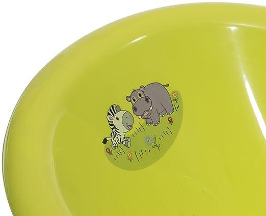 11001711 100 cm ab 0 bis 36 Monate Bieco Ergonomische Babywanne Giraffen in wei/ß Made in Europe schadstoffreie Badewanne mit St/öpsel f/ür Neugeborene sehr langlebig