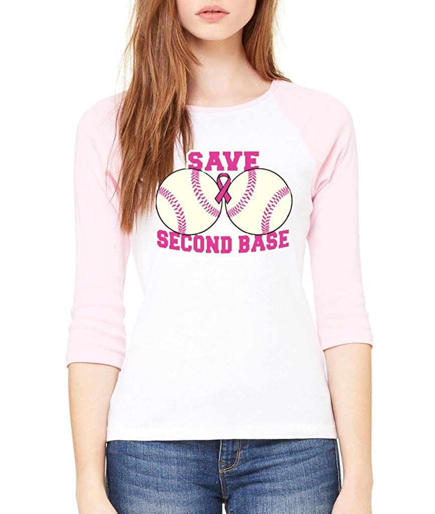 VISHTEA Save The 2nd Base Fight Back T-Shirt Breast Cancer Awareness Shirts