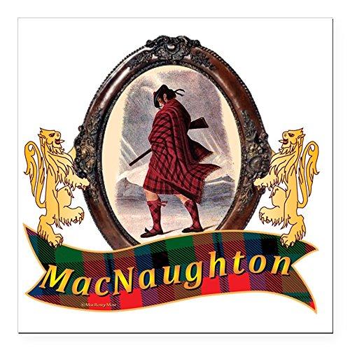 CafePress - MacNaughton Clan Square Car Magnet 3