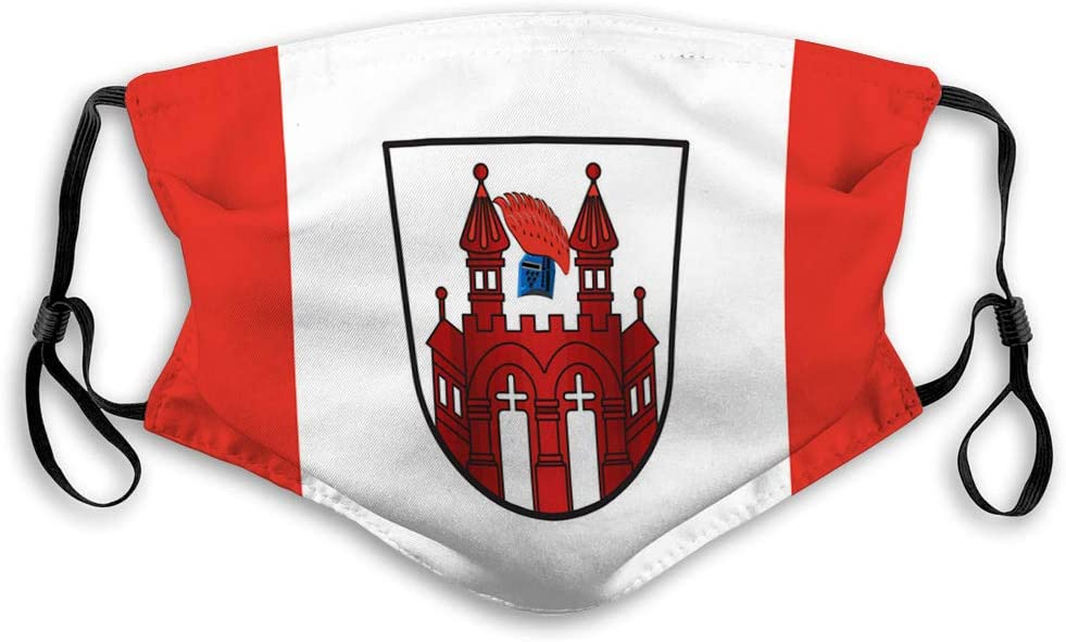 shjsertjs Sicherheitsschild wiederverwendbare Au/ßenabdeckungen Flagge von Neubrandenburg in mecklenburg vorpommern Sicherheitsschild wiederverwendbare Au/ßenabdeckungen