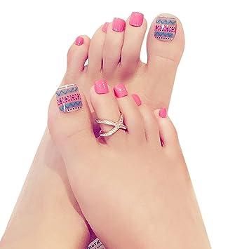 Aisi 24pcs Künstliche Fußnägel Zum Aufkleben Künstliche