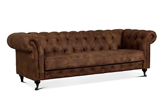 LuxuryLeather3 Lujo Churchill 2,5, 3 plazas Sofá Cama de ...