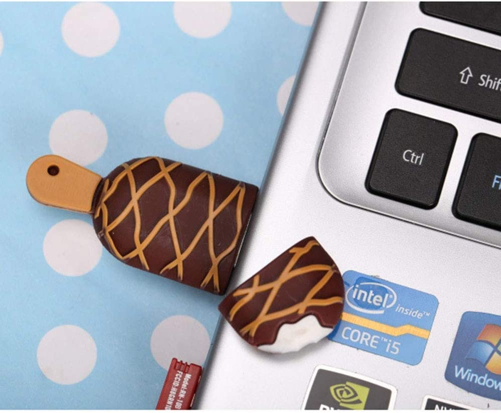 File Sharing,C,128GB Lee Lam 128GB Flash Drive Ice Cream Shape USB Memory Stick Portable Mini for Data Storage