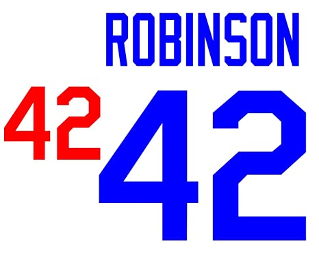 best cheap 10927 3bfc8 Jackie Robinson Los Angeles Dodgers Jersey Number Kit ...
