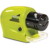Drake Plastic Swifty Sharp Cordless Motorized Knife Sharpener for Knife, Scissor and Screw-Driver, Green, Standard Size