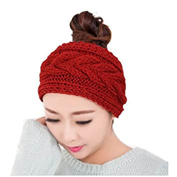 Butterme Handmade Holz Knopf Entwurf Modus Crochet Strick Stirnband ...