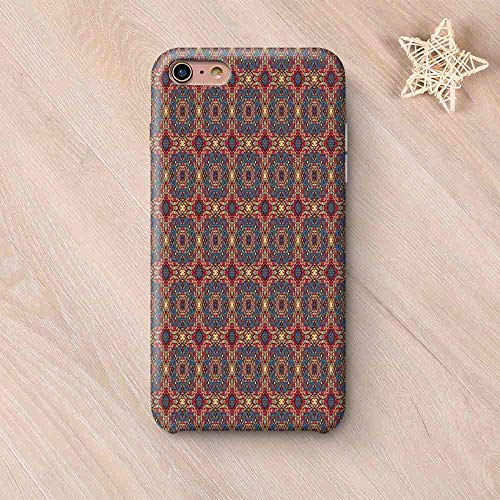 Vintage Custom Compatible with iPhone Case,Arabesque Middle East Ottoman Oriental Famous Carpet Patten Like Glass Artwork Compatible with iPhone 6/6s,iPhone 6 Plus / 6s Plus