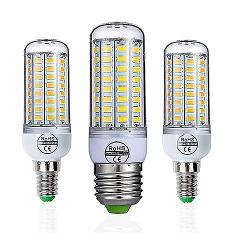 E27 Lámpara LED 220V SMD 5730 Luz LED 24 36 48 56 69 72 LED Lámpara