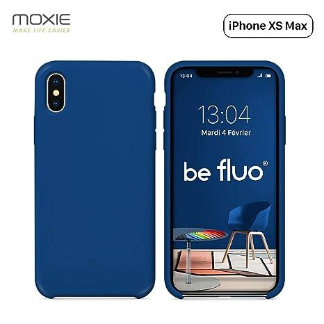 coque iphone xs max bleu marine