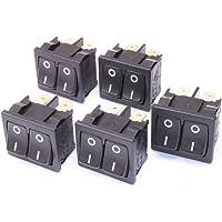 5pieza doble de interruptor basculante 10(4A) de 250VAC