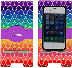 Rikki KnightTM Emma Name on Rainbow Scallop Design - Smart Cell Phone Holder Charger Stand for iPhone 4/4s/5/5s/5c, Motorola Moto X, Galaxy S3/S4/S5/Note 3/Ace 2, LG Optimus Gpro/G2/L3/4X HD, Sony Xperia Z1S/U, HTC Droid/One/One X/Pro/mini, Blackberry G10