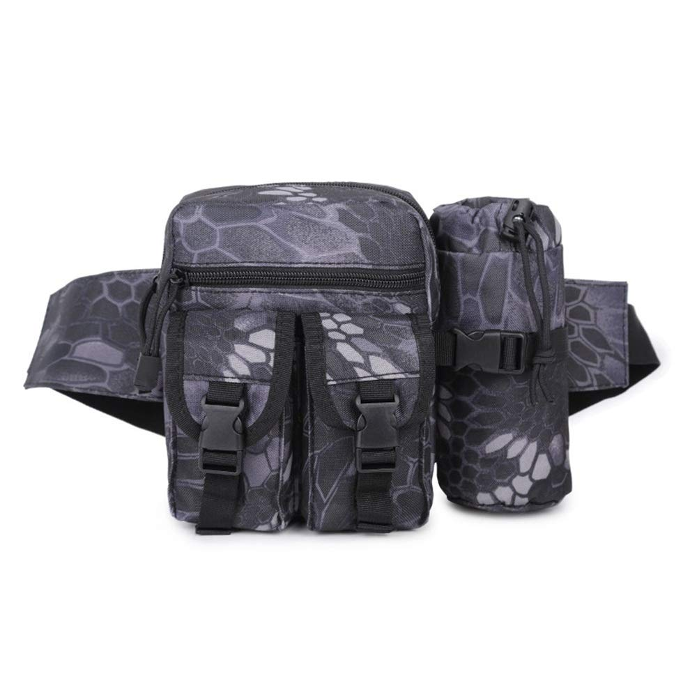 Color : Desert Digital Fklee Multi-Function Kettle Bag Army Fan Casual Outdoor Waist Bag Men and Women Sports Small Bag Camouflage Travel Pockets with Water Bottle Holder
