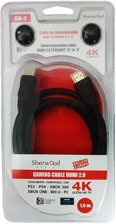Sherwood Media - Ultra HD 4K Gaming Cable HDMI 2.0, 1.5 m ...