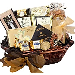 Art of Appreciation Gift Baskets Classic Gourmet Food and Snacks Set, Medium (Chocolate)