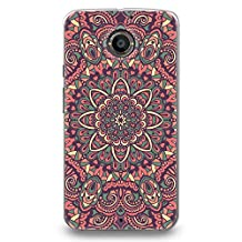 Hard Plastic Case for Moto X (2nd gen), CasesByLorraine Pink Mandala Floral Pattern PC Case Plastic Cover for Motorola Moto X 2nd Generation (N15-1)