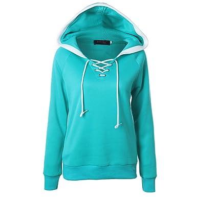 MRULIC Damen Winter Herbst Sweatshirt Hoodie Kapuzenpullover