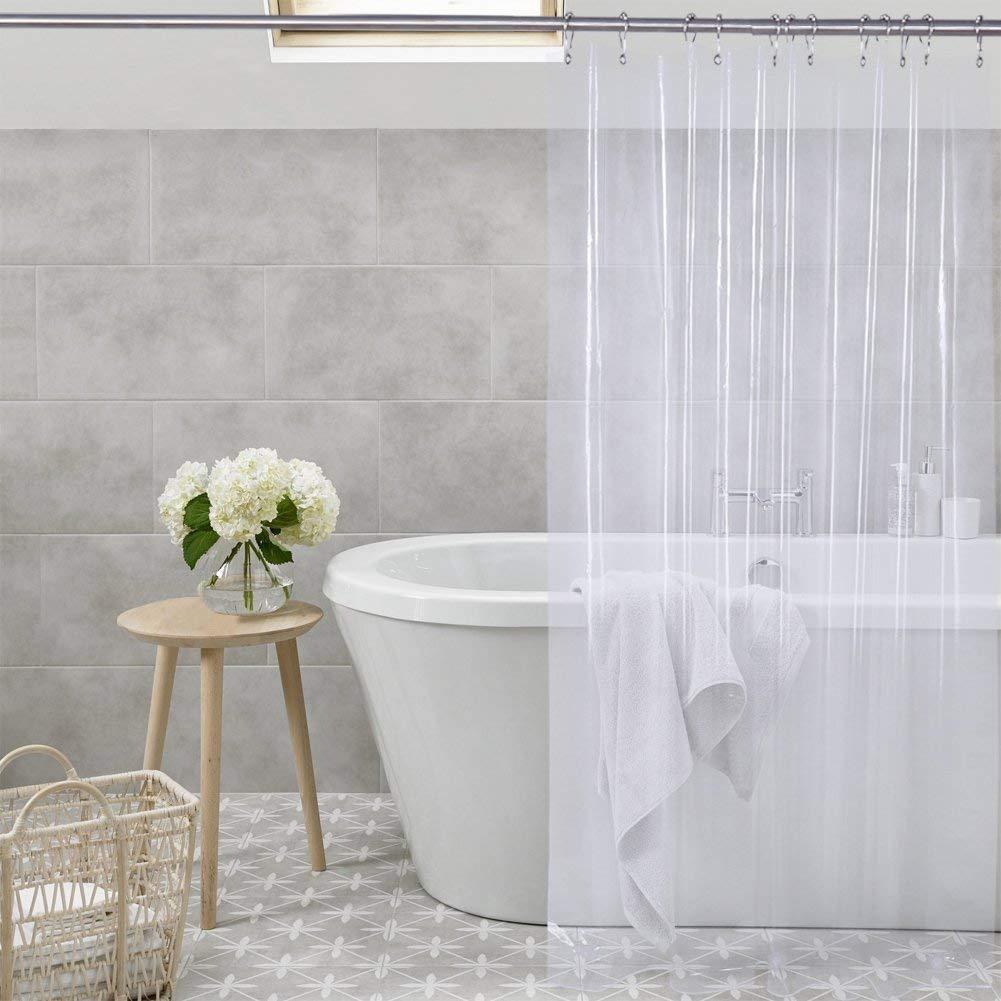 Shower Curtain Liner Transparent Mildew Resistant Anti Bacterial PEVA 72 X Clear