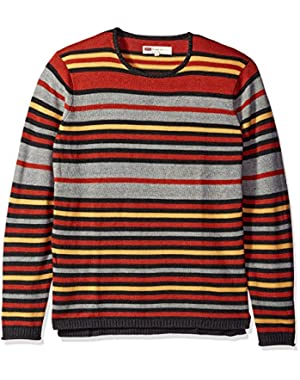 Men's Kerman Light Weight Sweater with Rolled Hem and Collar