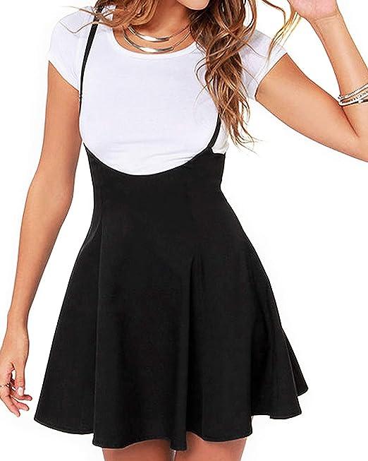 YOINS Falda de Tirantes para Mujer, Informal, básica, de Cintura ...