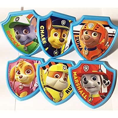 DecoPac Paw Patrol Ruff Ruff Rescue Cupcake Rings, Pack of 24 Assorted Rings: Toys & Games