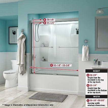 delta shower doors sd3276618 linden 60 semi frameless traditional